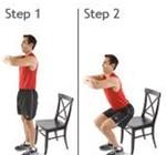 ورزش زانو در خانه